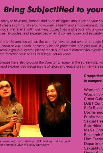 Sexual health documentary films